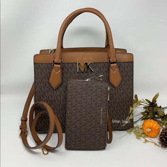 Michael Kors Handbags - Michael Kors Mott Large Satchel and Wallet